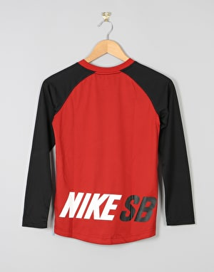 Nike SB Colour Blocked Boys Raglan T-Shirt - Dark Cayenne