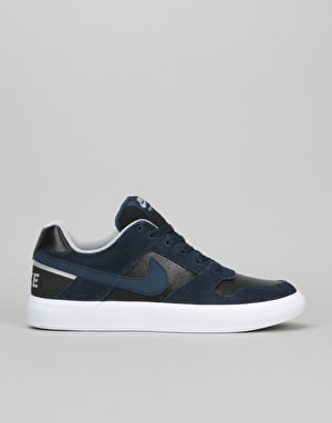 Nike SB Delta Force Vulc Skate Shoes - Obsidian/Black-Wolf Grey