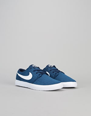 Nike SB Portmore II Ultralight Boys Skate Shoes - Binary Blue/White