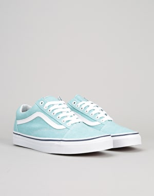Vans Old Skool Skate Shoes - (Washed Canvas) Blue Radiance/Crown Blue