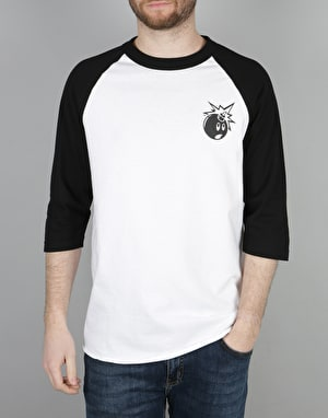 The Hundreds Forever Simple Raglan T-Shirt - White/Black
