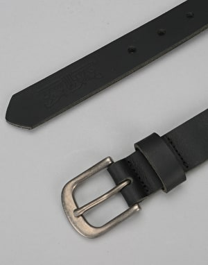 Levis Woodland Leather Belt - Regular Black