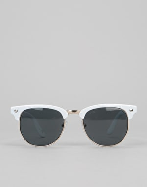 Glassy Morrison Sunglasses - White/Gold