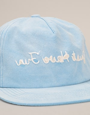 Just Have Fun Faded Strapback Cap - Blue