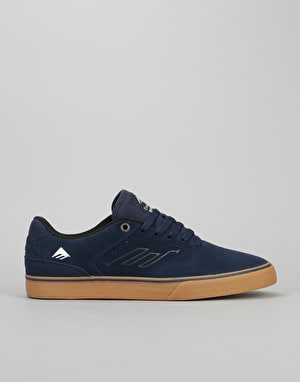 Emerica The Reynolds Low Vulc Skate Shoes - Navy/Grey/Gum