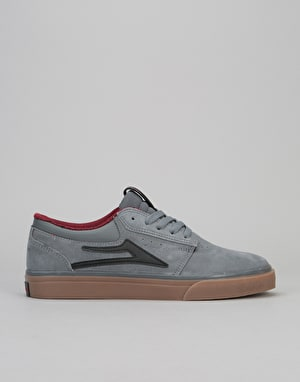 Lakai x Chocolate Griffin Skate Shoes - Grey/Gum Suede