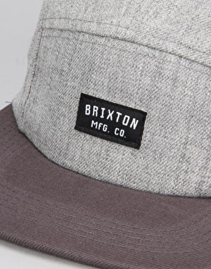 Brixton Hendrick 5 Panel Cap - Light Heather Grey
