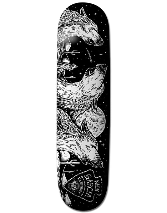 Element x Timber! Garcia Wolves Featherlight Pro Deck - 8.25""