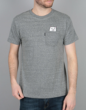 RIPNDIP Lord Nermal Pocket T-Shirt - Athletic Grey