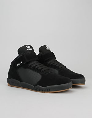 Supra Ellington Strap Skate Shoes - Black/Gum