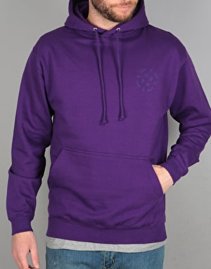 Route One Stamp Logo Tonal Pullover Hoodie - Purple