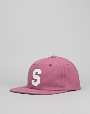 Stüssy Felt S Canvas Strapback Cap - Red
