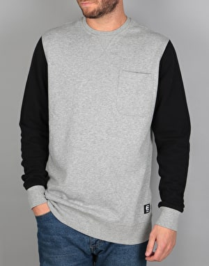 Etnies Point A Crew Sweatshirt - Grey/Black