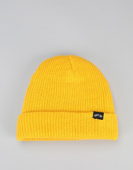 6551c68f5a9 Route One Fisherman Beanie - Mustard