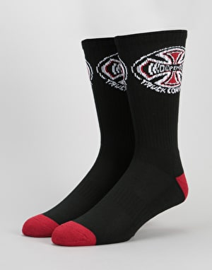 Independent 2 Pack Crew Socks - Black