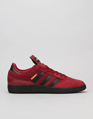 Adidas Busenitz Skate Shoes - Burgundy/Black/Gold