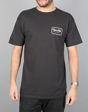 Brixton Grade T-Shirt - Washed Black