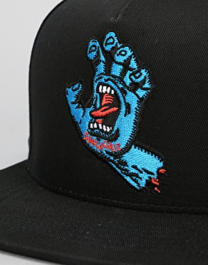 Santa Cruz Screaming Hand Snapback Cap - Black