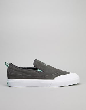 Adidas Matchcourt Slip Skate Shoes - Solid Grey/Ice Green/White