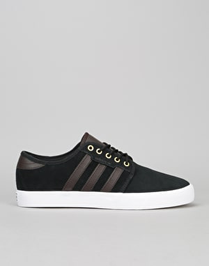 Adidas Seeley Skate Shoes - Black/Dark Brown/White