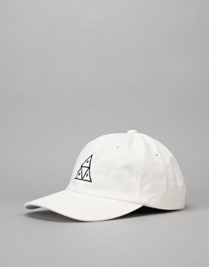 HUF Triple Triangle Curve Brim Cap - White