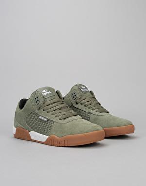 Supra Ellington Skate Shoes - Olive/White