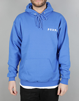 Chrystie Japanese Logo Pullover Hoodie - Royal Blue