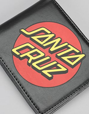 Santa Cruz Printed Classic Dot Wallet - Black/Red