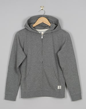DC Rebel Boys Zip Hoodie - Charcoal Heather