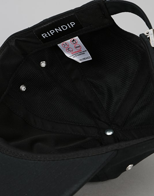 RIPNDIP We Out Here Unstructured 6 Panel Cap - Black