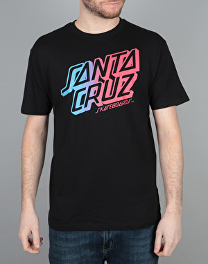 Santa Cruz Stack Fade T-Shirt - Black