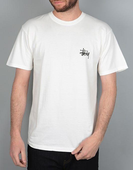 Stüssy Fire Dragon Pigment Dyed T-Shirt - White