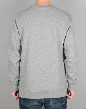 Vans Side Stripe Pocket Crew Sweatshirt - Concrete Heather