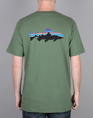 Patagonia Fitz Roy Trout T-Shirt - Buffalo Green