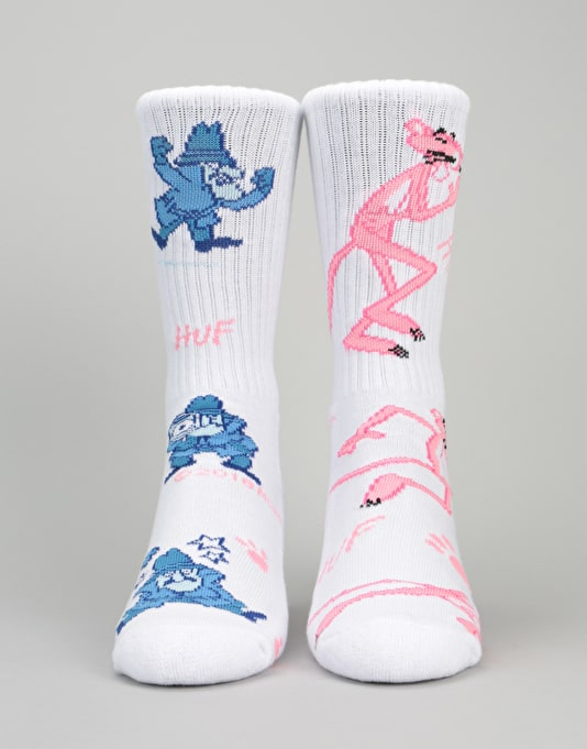 HUF x Pink Panther Hunt Socks - White