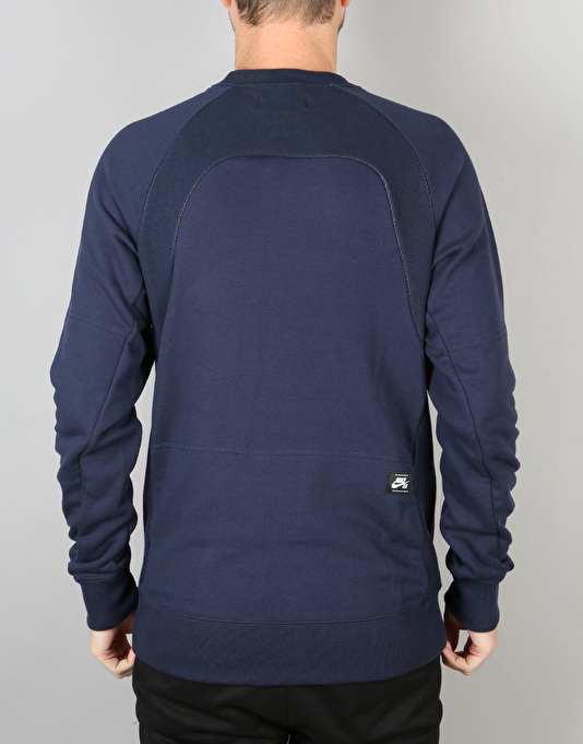 Nike SB Everett Reveal Crew Sweatshirt - Obsidian/White