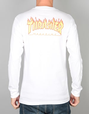 Vans x Thrasher Checker L/S T-Shirt - White