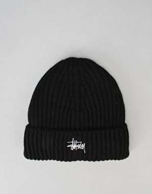 Stüssy Basic Stock Cuff Beanie - Black