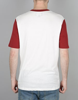 Brixton Normandie S/S Henley T-Shirt - Off White