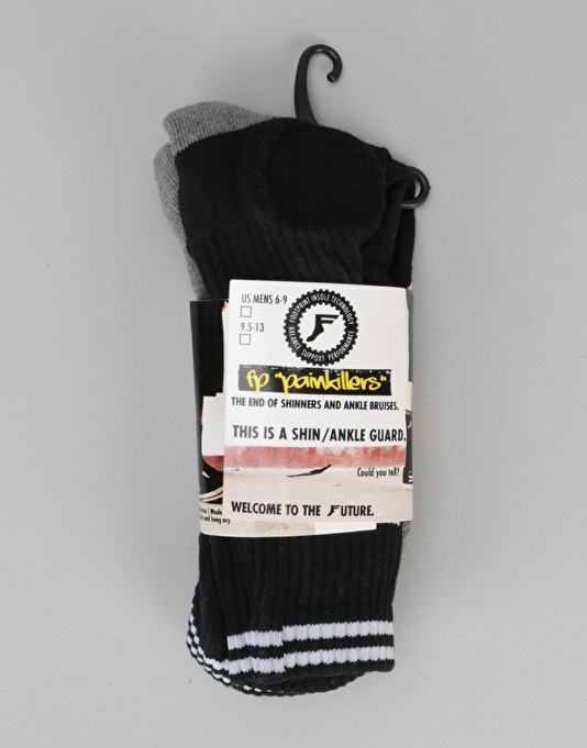 Footprint Bamboo Charcoal Crew Painkiller Shin Socks