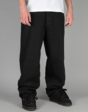 Route One Baggy Denim Jeans - Old Black