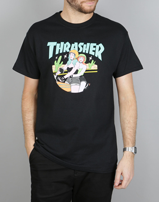 Thrasher Babes T-Shirt - Black
