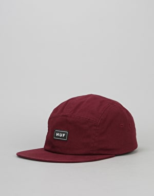 HUF Bar Logo Volley 5 Panel Cap - Wine
