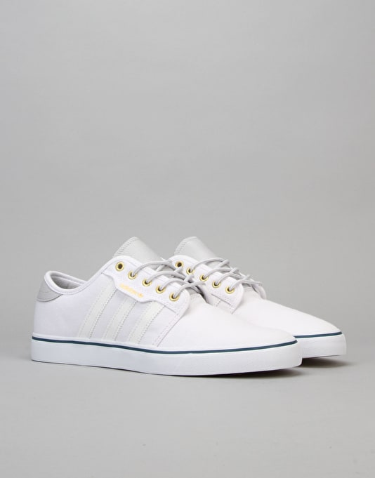 Adidas Seeley Skate Shoes - White/White/Mineral