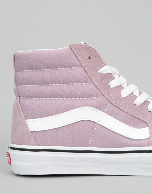 Vans Sk8-Hi Skate Shoes - Sea Fog/True White