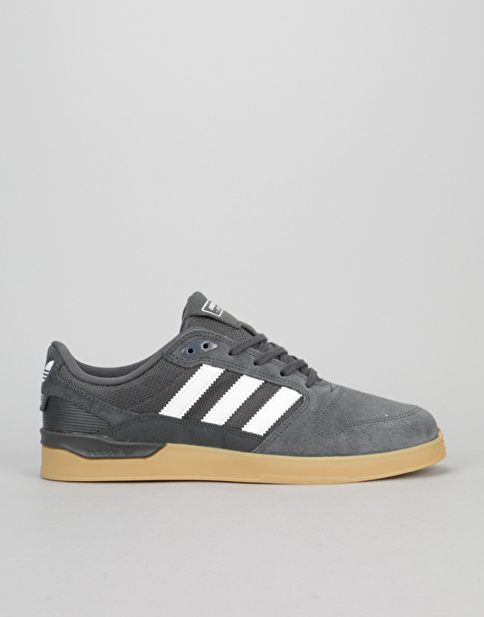 Adidas ZX Vulc Skate Shoes - Solid Grey/White/Gum