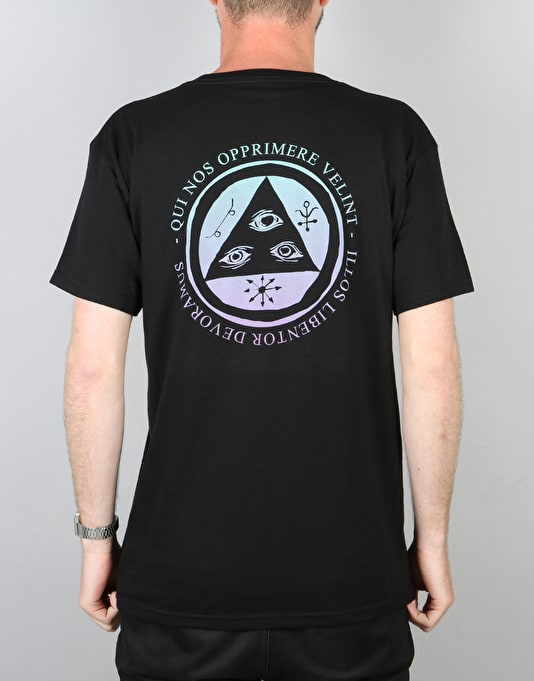 Welcome Latin Talisman T-Shirt - Black/Teal/Lavender
