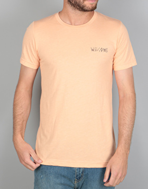 Welcome Talisman Halftone T-Shirt - Peach/Black