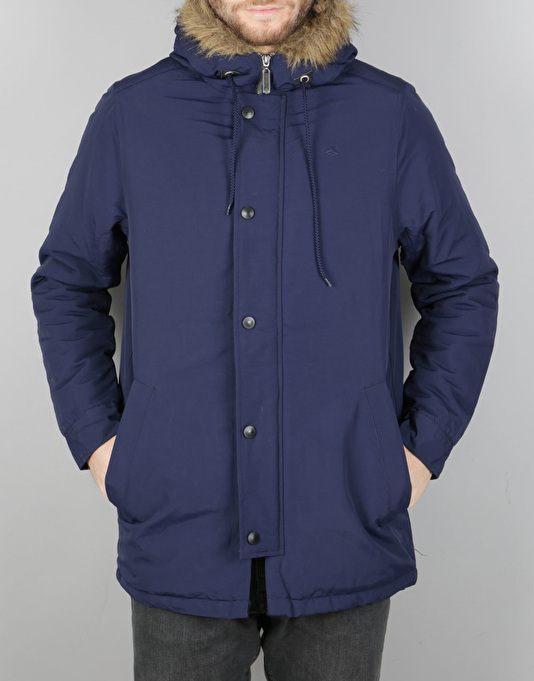 Emerica Dusted Parka Jacket - Navy | Parka Jackets | Mens ...