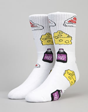 40's & Shorties Chicken N' Beer Socks - White